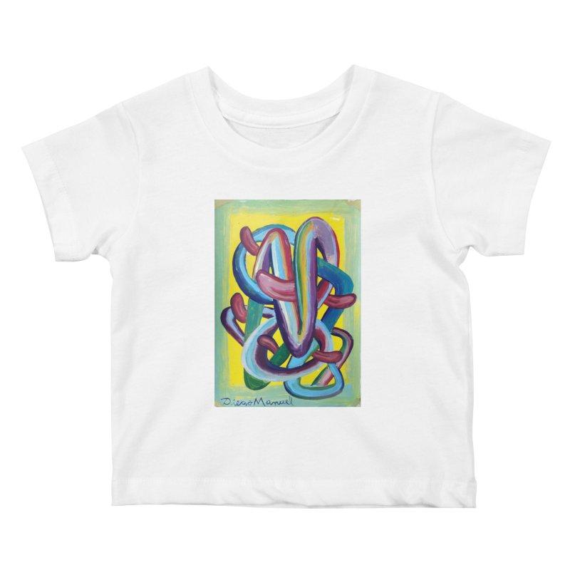 Formas en el espacio 6 Kids Baby T-Shirt by diegomanuel's Artist Shop