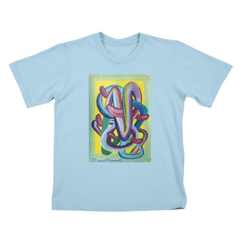 Formas en el espacio 6 Kids T-shirt by diegomanuel's Artist Shop
