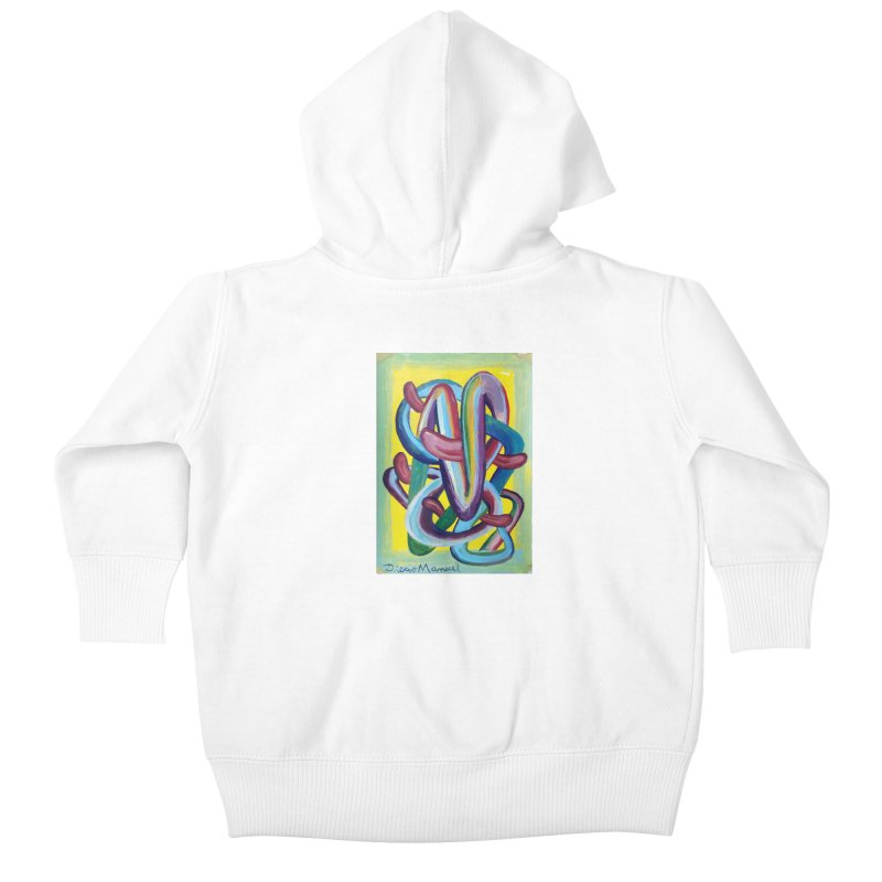 Formas en el espacio 6 Kids Baby Zip-Up Hoody by diegomanuel's Artist Shop