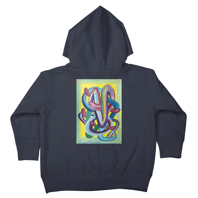Formas en el espacio 6 Kids Toddler Zip-Up Hoody by diegomanuel's Artist Shop