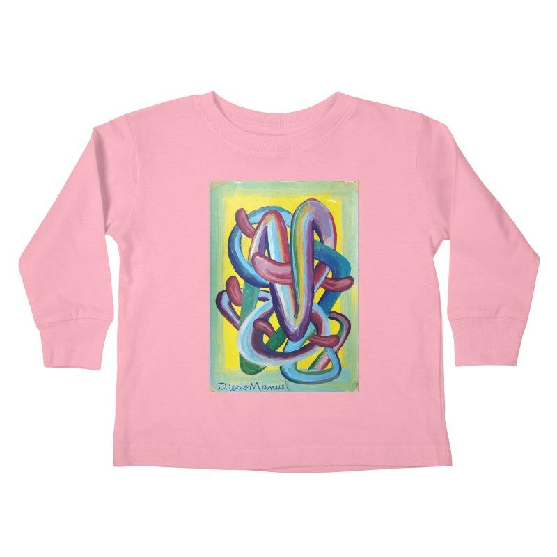 Formas en el espacio 6 Kids Toddler Longsleeve T-Shirt by diegomanuel's Artist Shop
