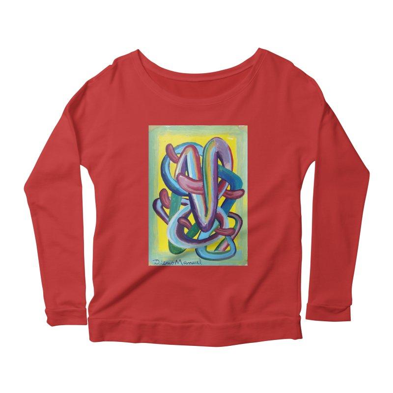 Formas en el espacio 6 Women's Scoop Neck Longsleeve T-Shirt by diegomanuel's Artist Shop