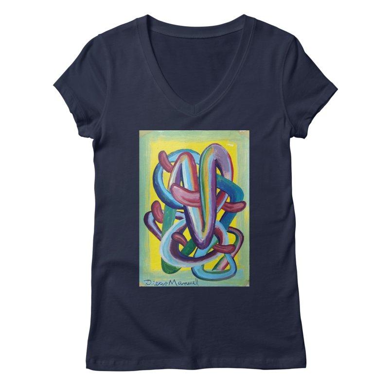 Formas en el espacio 6 Women's V-Neck by diegomanuel's Artist Shop