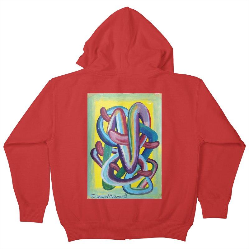 Formas en el espacio 6 Kids Zip-Up Hoody by diegomanuel's Artist Shop
