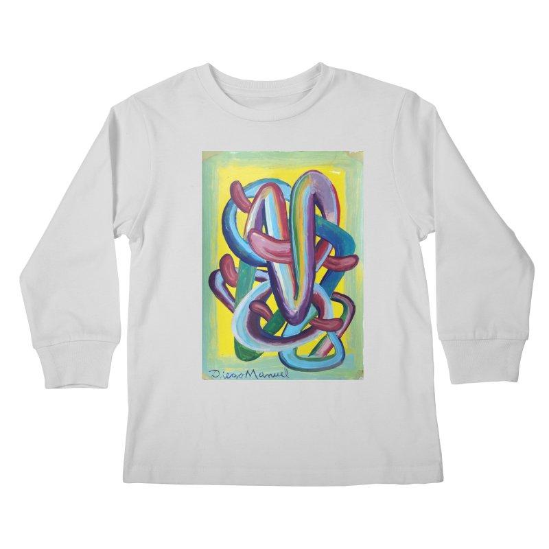 Formas en el espacio 6 Kids Longsleeve T-Shirt by diegomanuel's Artist Shop