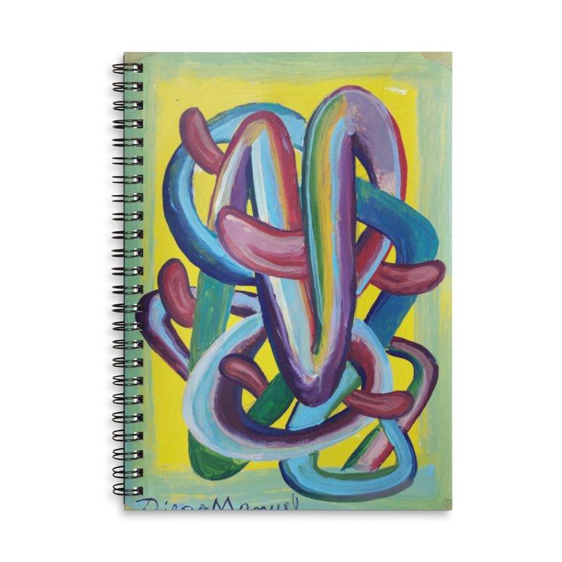 Formas en el espacio 6 Accessories Lined Spiral Notebook by diegomanuel's Artist Shop