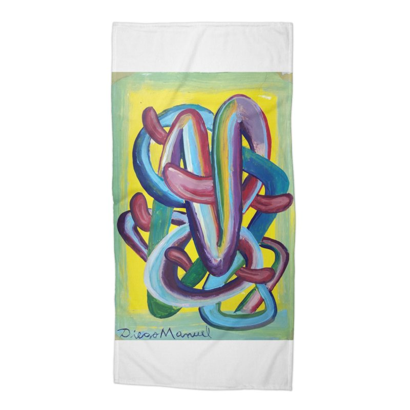 Formas en el espacio 6 Accessories Beach Towel by Diego Manuel Rodriguez Artist Shop