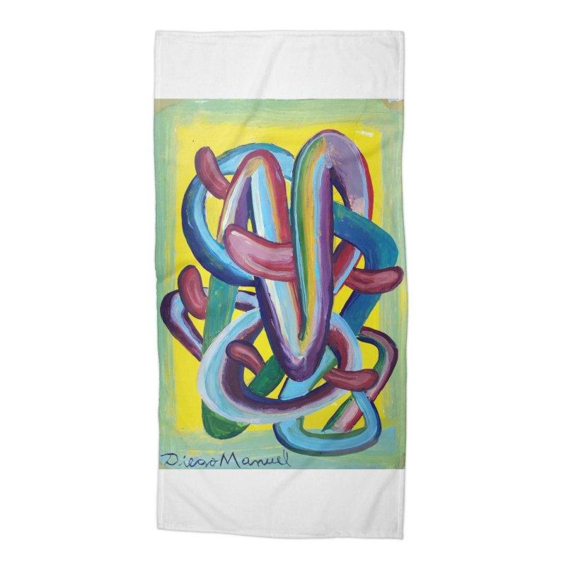 Formas en el espacio 6 Accessories Beach Towel by Diego Manuel Rodriguez Artist Shop