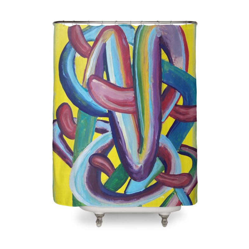 Formas en el espacio 6 Home Shower Curtain by Diego Manuel Rodriguez Artist Shop