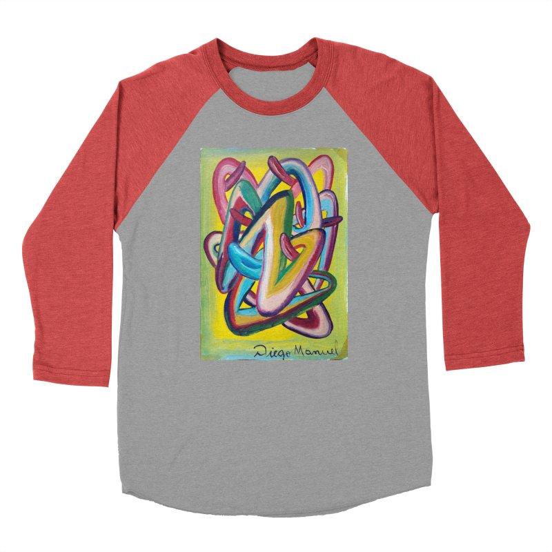 Formas en el espacio 5 Men's Baseball Triblend T-Shirt by diegomanuel's Artist Shop
