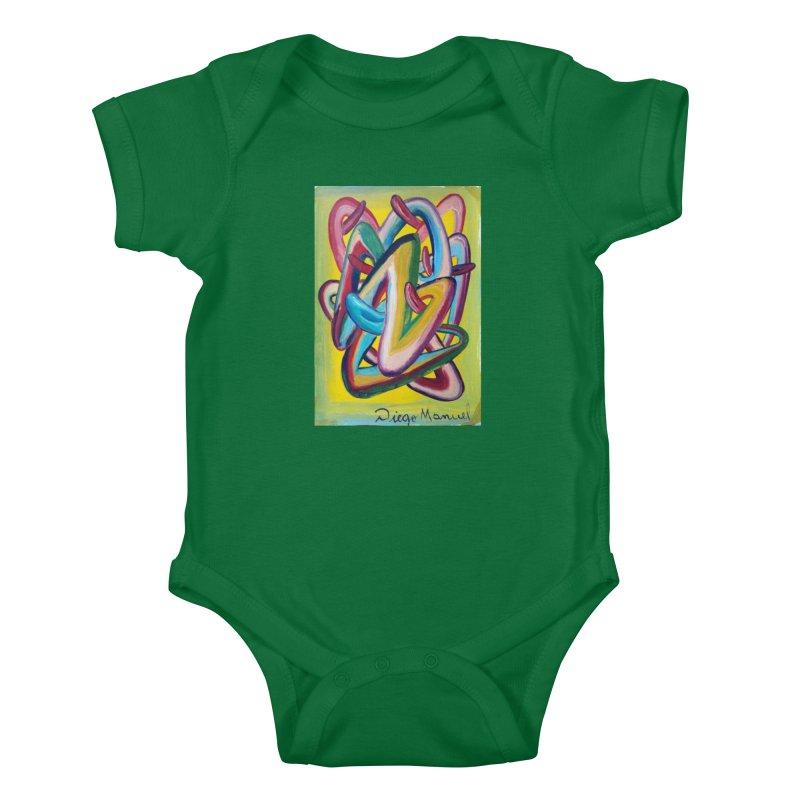 Formas en el espacio 5 Kids Baby Bodysuit by Diego Manuel Rodriguez Artist Shop