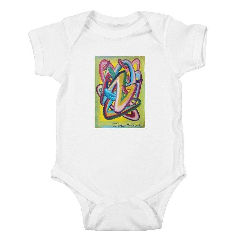 Formas en el espacio 5 Kids Baby Bodysuit by diegomanuel's Artist Shop