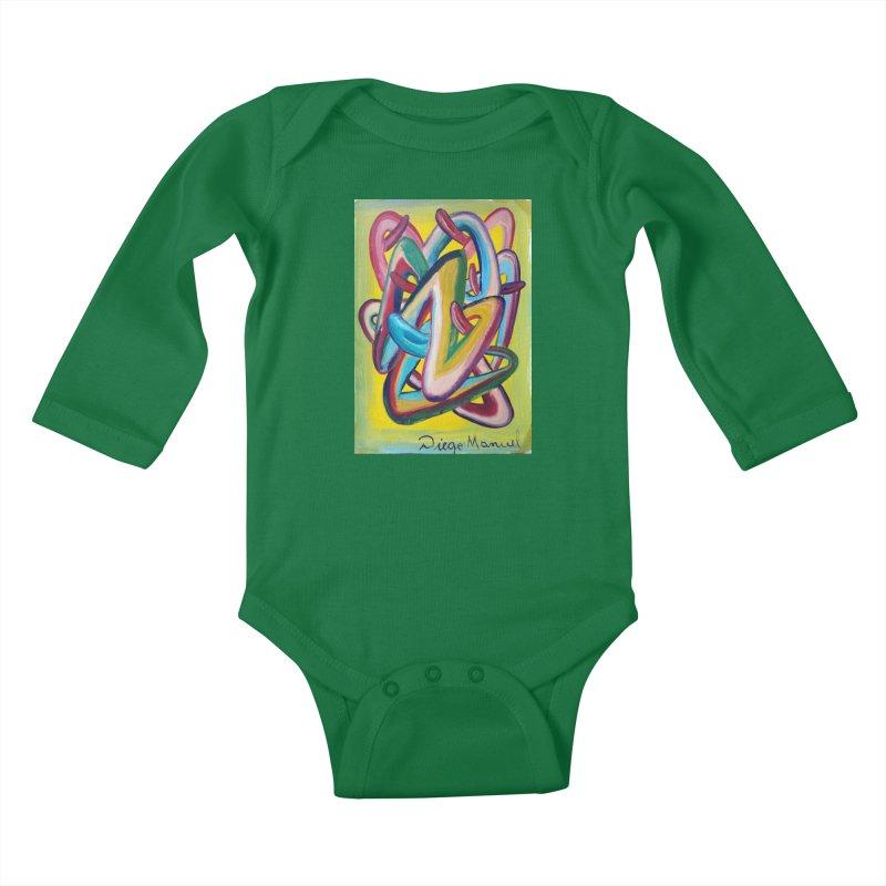 Formas en el espacio 5 Kids Baby Longsleeve Bodysuit by diegomanuel's Artist Shop