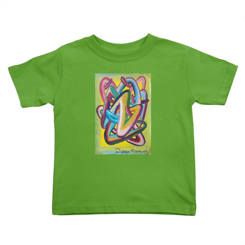 Formas en el espacio 5 Kids Toddler T-Shirt by Diego Manuel Rodriguez Artist Shop