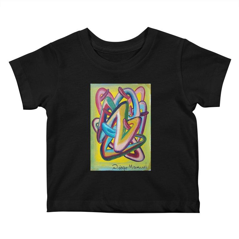 Formas en el espacio 5 Kids Baby T-Shirt by diegomanuel's Artist Shop