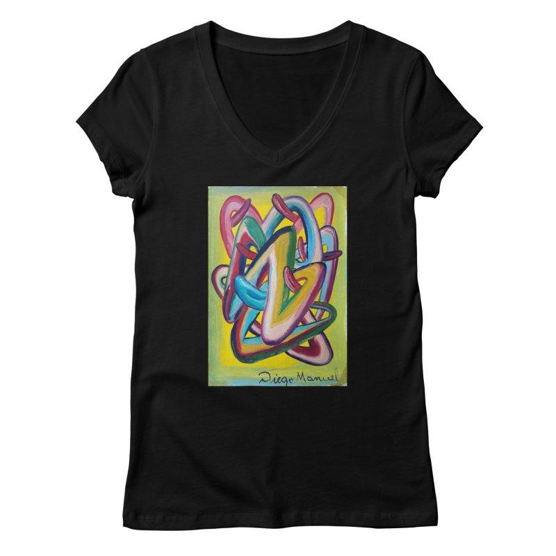 Formas en el espacio 5 Women's V-Neck by Diego Manuel Rodriguez Artist Shop