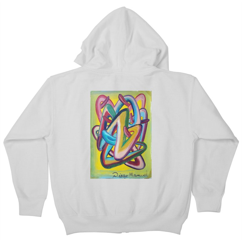 Formas en el espacio 5 Kids Zip-Up Hoody by diegomanuel's Artist Shop