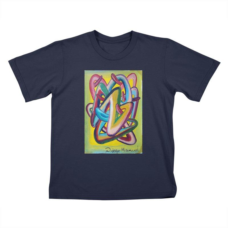 Formas en el espacio 5 Kids T-Shirt by Diego Manuel Rodriguez Artist Shop