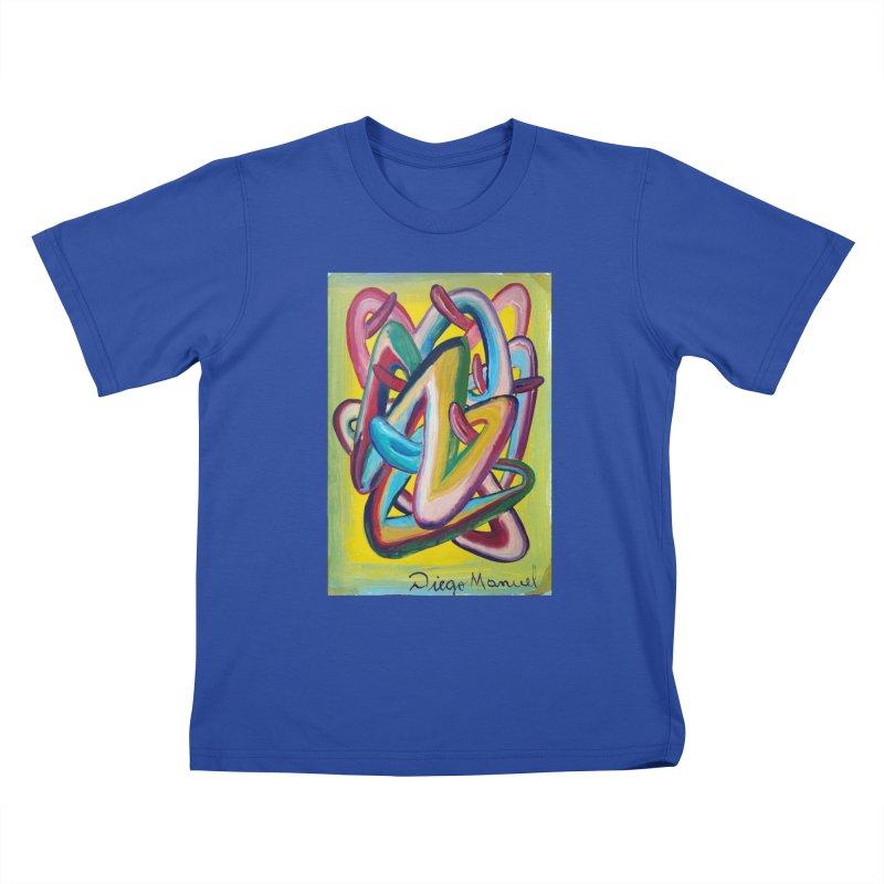 Formas en el espacio 5 Kids T-Shirt by diegomanuel's Artist Shop