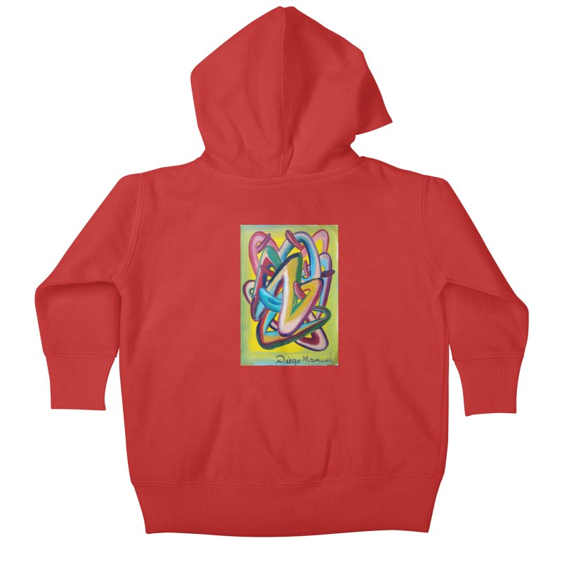 Formas en el espacio 5 Kids Baby Zip-Up Hoody by diegomanuel's Artist Shop