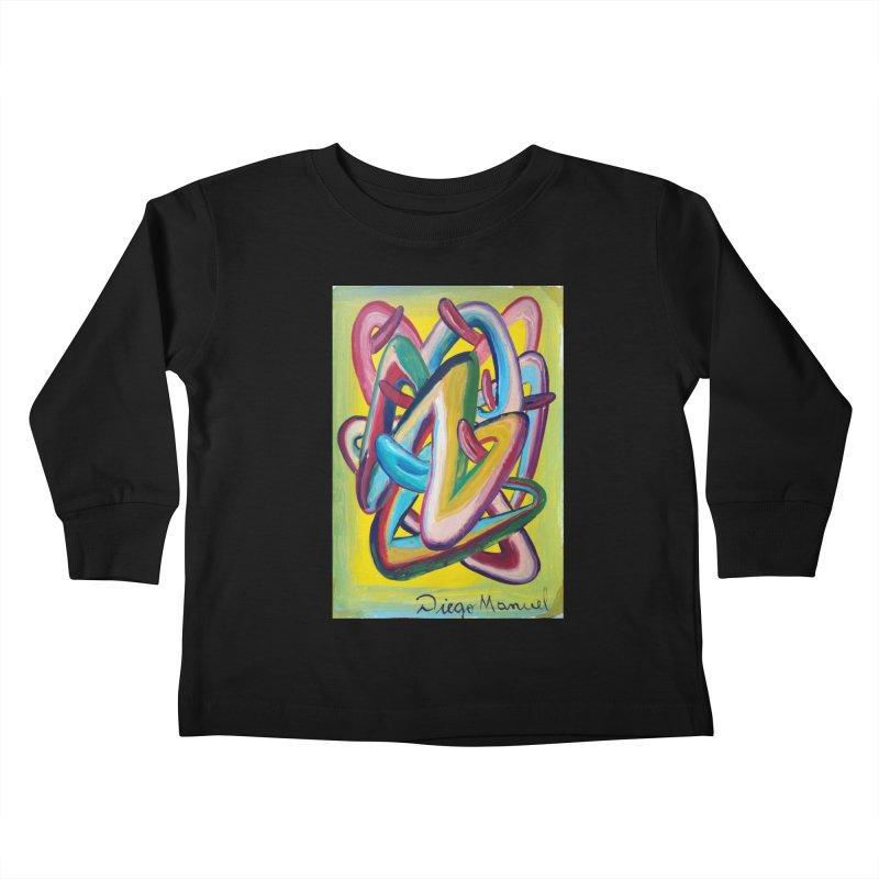 Formas en el espacio 5 Kids Toddler Longsleeve T-Shirt by Diego Manuel Rodriguez Artist Shop
