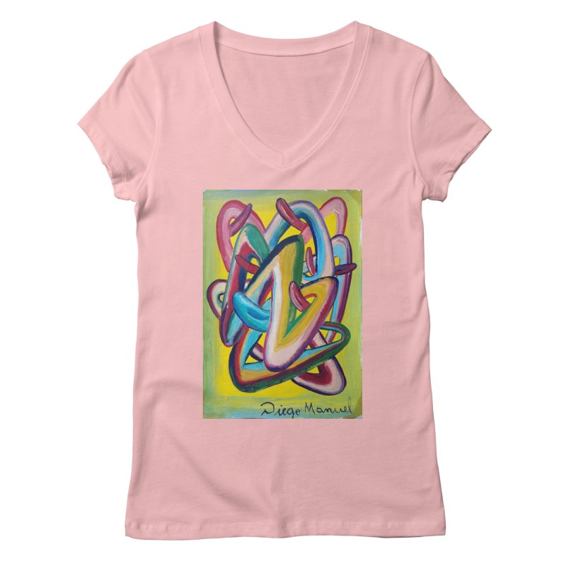 Formas en el espacio 5 Women's V-Neck by diegomanuel's Artist Shop
