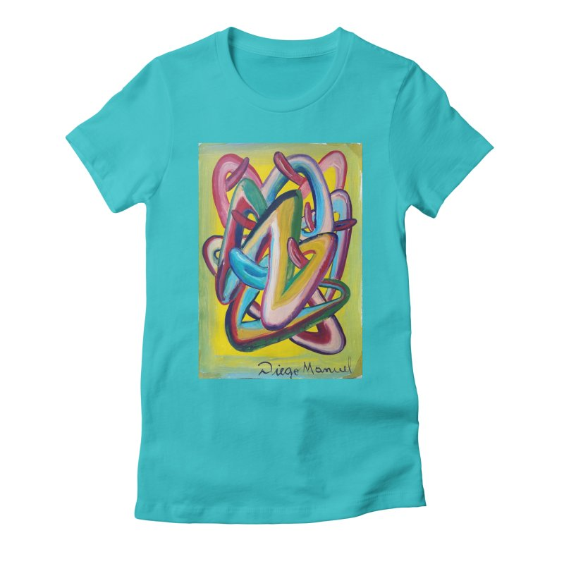 Formas en el espacio 5 Women's Fitted T-Shirt by diegomanuel's Artist Shop