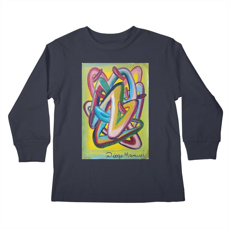 Formas en el espacio 5 Kids Longsleeve T-Shirt by Diego Manuel Rodriguez Artist Shop