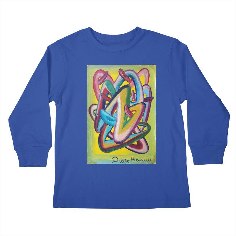 Formas en el espacio 5 Kids Longsleeve T-Shirt by diegomanuel's Artist Shop