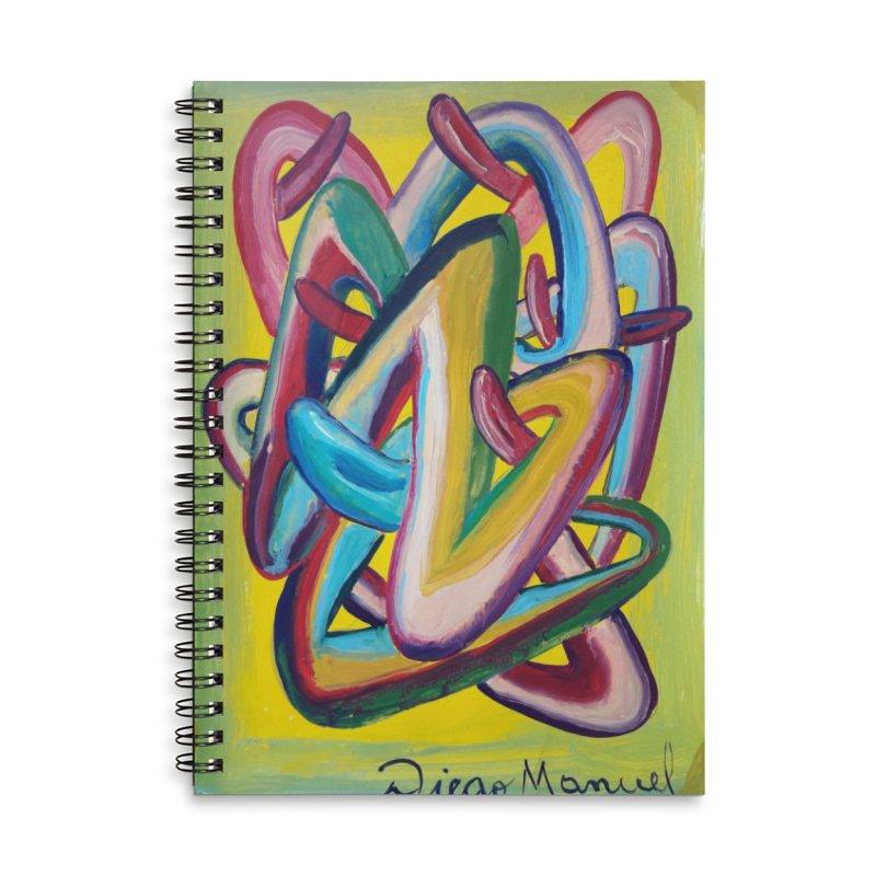 Formas en el espacio 5 Accessories Lined Spiral Notebook by diegomanuel's Artist Shop