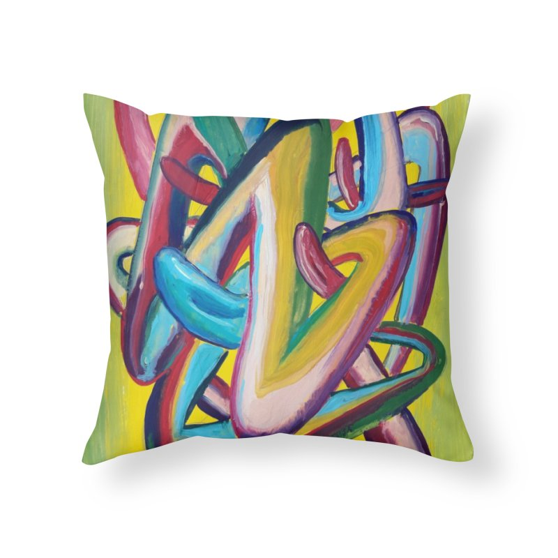 Formas en el espacio 5 Home Throw Pillow by diegomanuel's Artist Shop
