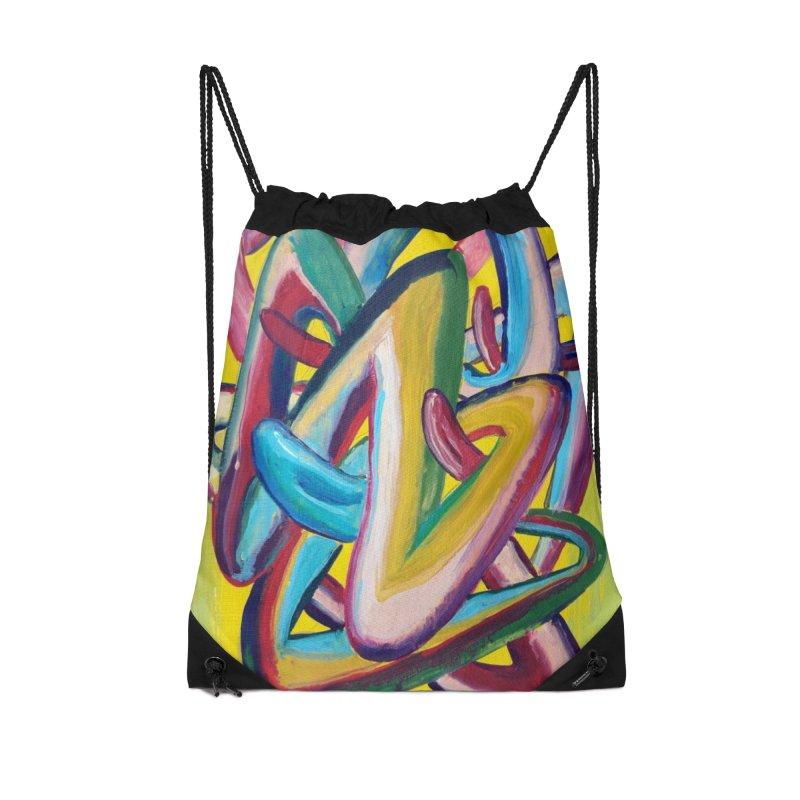 Formas en el espacio 5 Accessories Drawstring Bag Bag by diegomanuel's Artist Shop