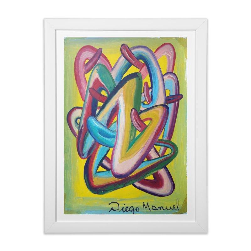 Formas en el espacio 5 Home Framed Fine Art Print by Diego Manuel Rodriguez Artist Shop