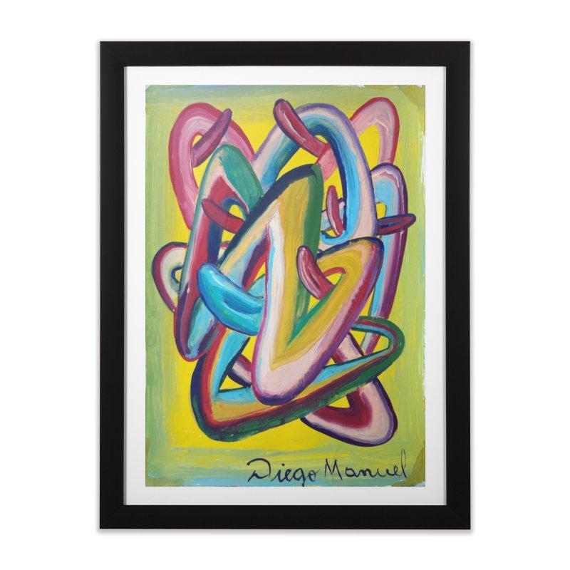 Formas en el espacio 5 Home Framed Fine Art Print by diegomanuel's Artist Shop