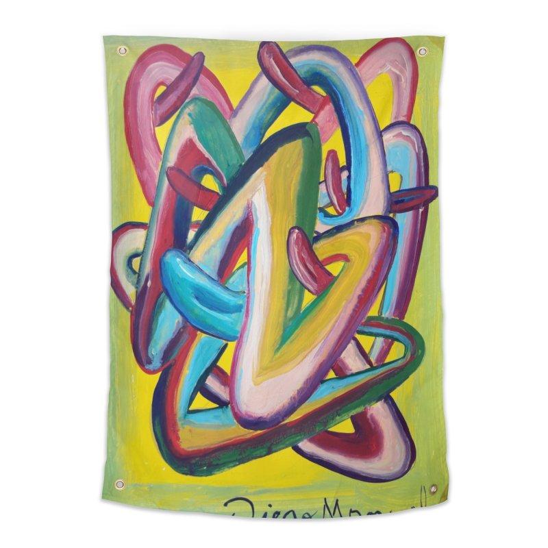 Formas en el espacio 5 Home Tapestry by diegomanuel's Artist Shop