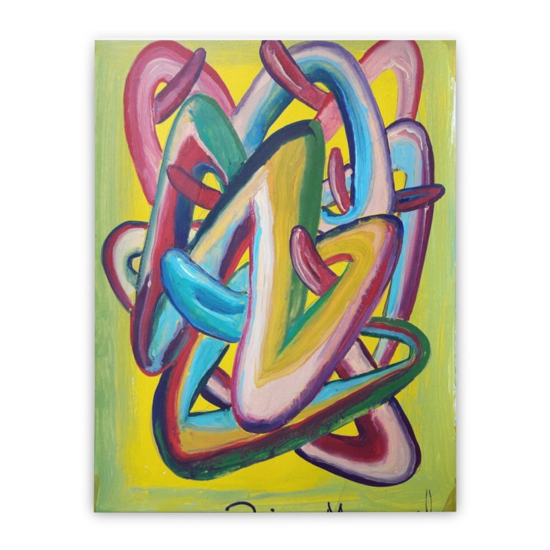 Formas en el espacio 5 Home Stretched Canvas by diegomanuel's Artist Shop