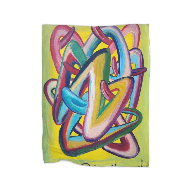 Formas en el espacio 5 Home Blanket by diegomanuel's Artist Shop