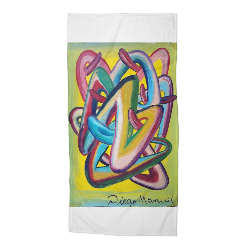 Formas en el espacio 5 Accessories Beach Towel by diegomanuel's Artist Shop