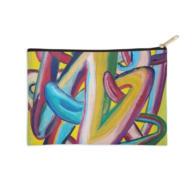 Formas en el espacio 5 Accessories Zip Pouch by diegomanuel's Artist Shop