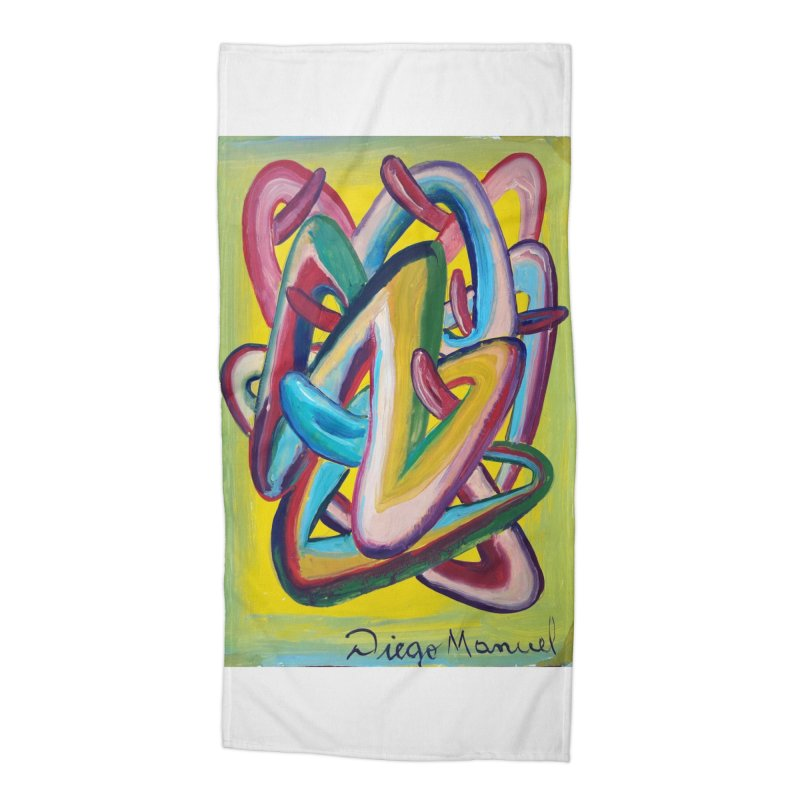 Formas en el espacio 5 Accessories Beach Towel by Diego Manuel Rodriguez Artist Shop