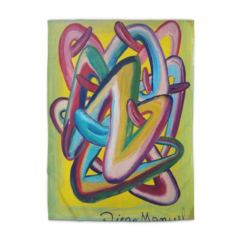 Formas en el espacio 5 Home Rug by Diego Manuel Rodriguez Artist Shop
