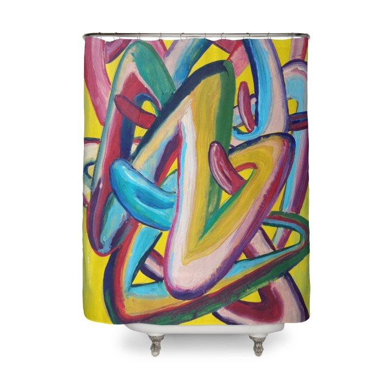 Formas en el espacio 5 Home Shower Curtain by Diego Manuel Rodriguez Artist Shop