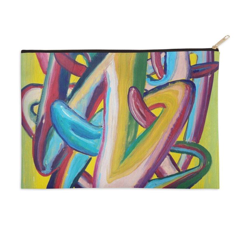 Formas en el espacio 5 Accessories Zip Pouch by Diego Manuel Rodriguez Artist Shop