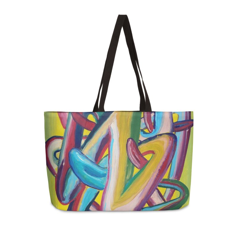Formas en el espacio 5 Accessories Weekender Bag Bag by diegomanuel's Artist Shop