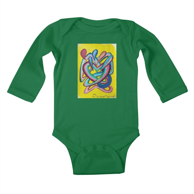 Formas en el espacio 4 Kids Baby Longsleeve Bodysuit by diegomanuel's Artist Shop