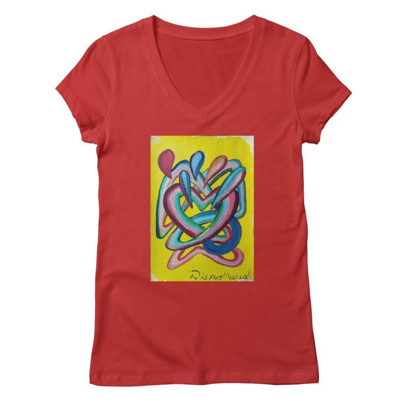 Formas en el espacio 4 Women's V-Neck by Diego Manuel Rodriguez Artist Shop