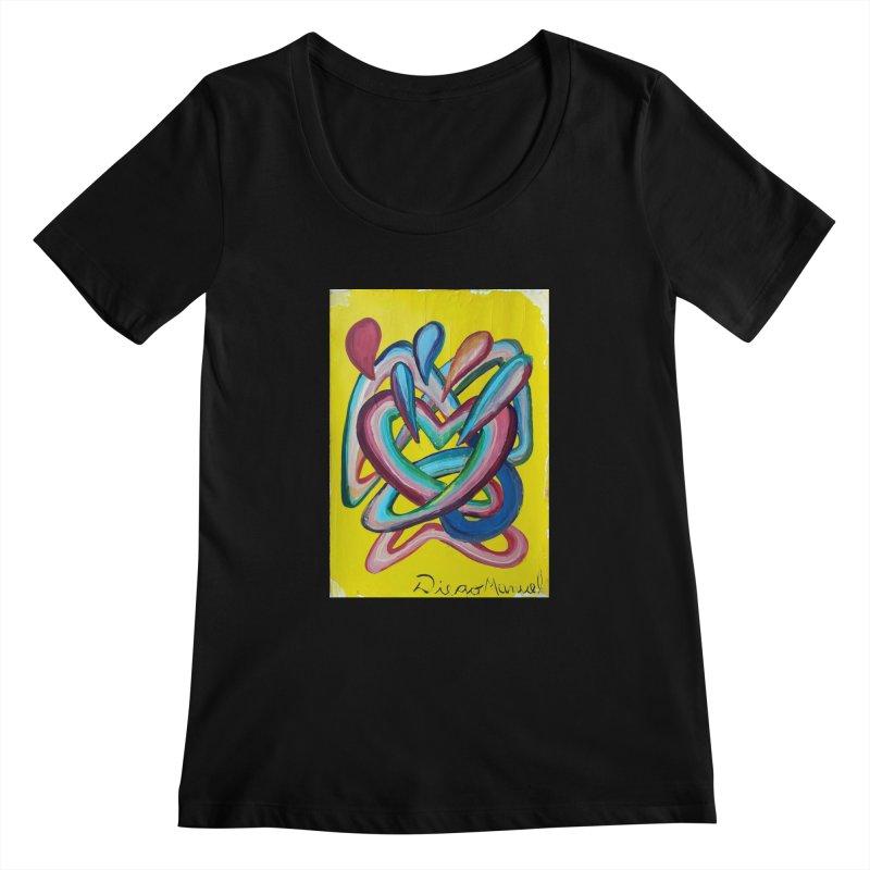 Formas en el espacio 4 Women's Scoopneck by diegomanuel's Artist Shop