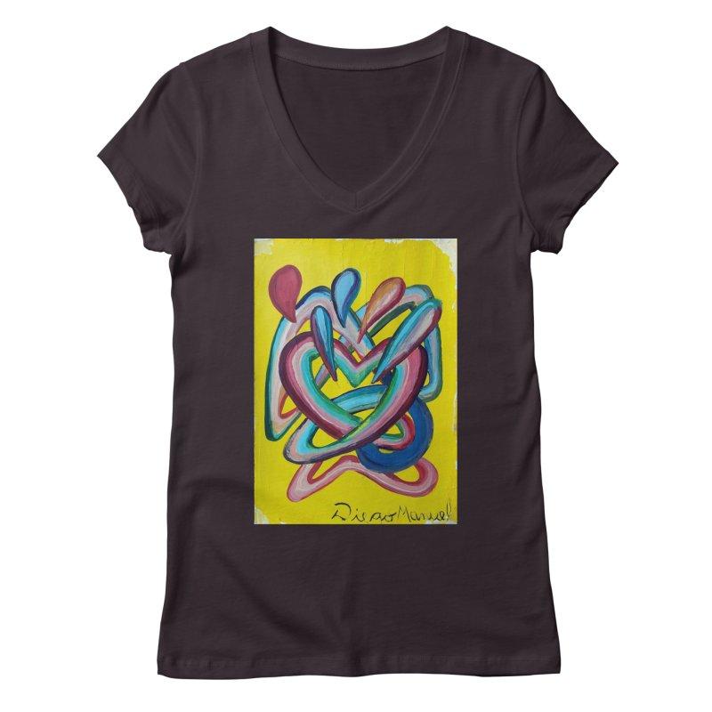 Formas en el espacio 4 Women's V-Neck by diegomanuel's Artist Shop