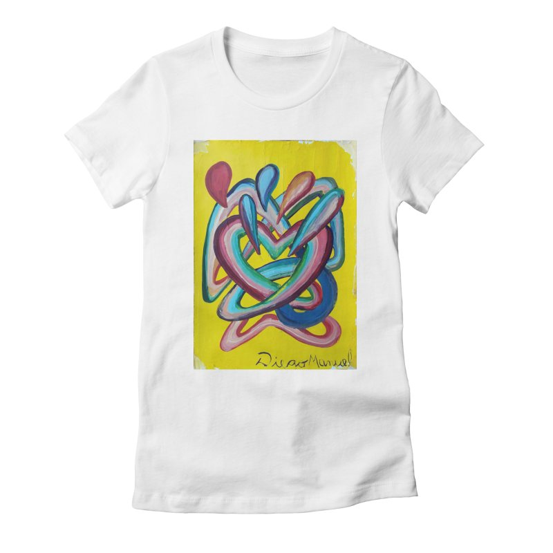 Formas en el espacio 4 Women's Fitted T-Shirt by diegomanuel's Artist Shop