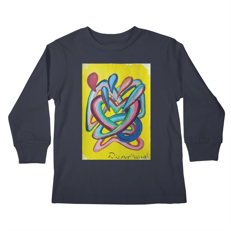 Formas en el espacio 4 Kids Longsleeve T-Shirt by Diego Manuel Rodriguez Artist Shop